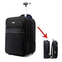 Multifunzione Da Viaggio Trolley Staccabile Valigia Set Sacchetto di Spalla  USB Valigia Ruote 18 pollici Cabina Trolley borsa de. 3d42db9ed71