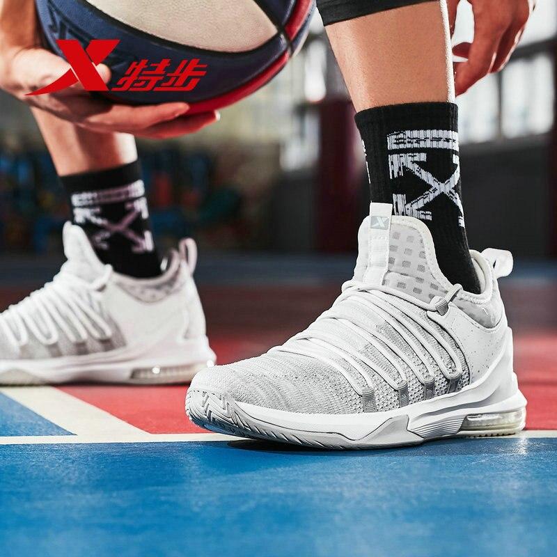 982319129183 Xtep basket-ball chaussures pour hommes coussin d'air respirant chaussures de sport intérieur et extérieur bottes chaussures