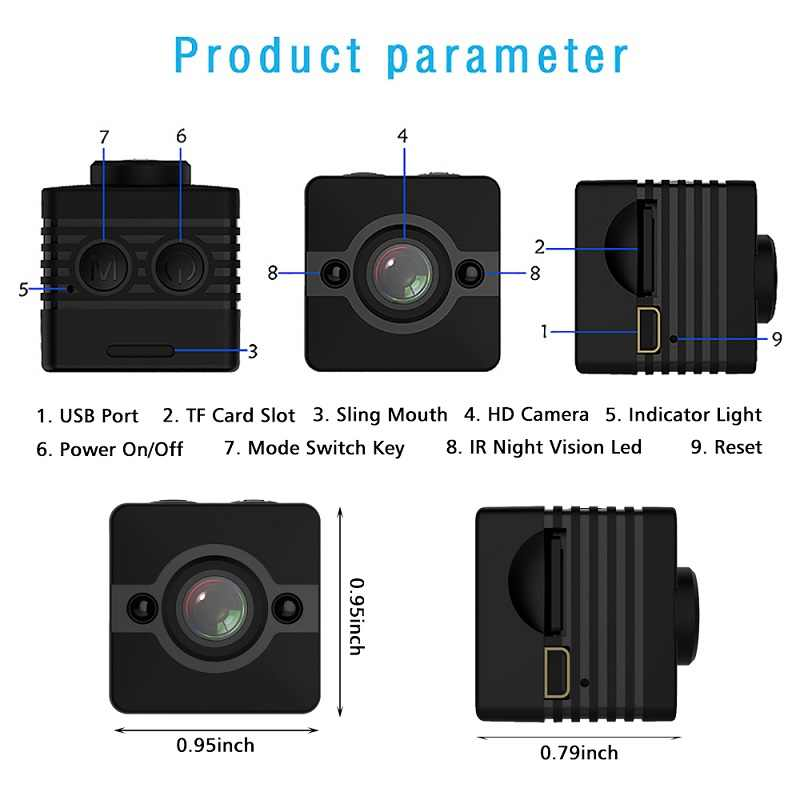 30M Waterproof Full HD 1080P Mini Consumer  Camcorder Camera Micro Cam Sport Video Audio Recorder Motion Sensor Night Vision