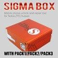 100% original caixa sigma pack1/pack2/pa3 ativação + 9 cabos para t alcatel mtk-baseado motorola huawei zte e lenovo transporte rápido
