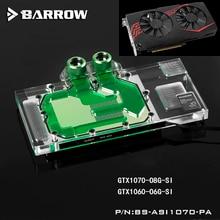 BARROW Full Cover Graphics Card Block use for ASUS Ice Knight GTX1070-O8G-GAMING/1070-O8G-SI/1060-O6G GPU Radiator RGB to AURA цена в Москве и Питере