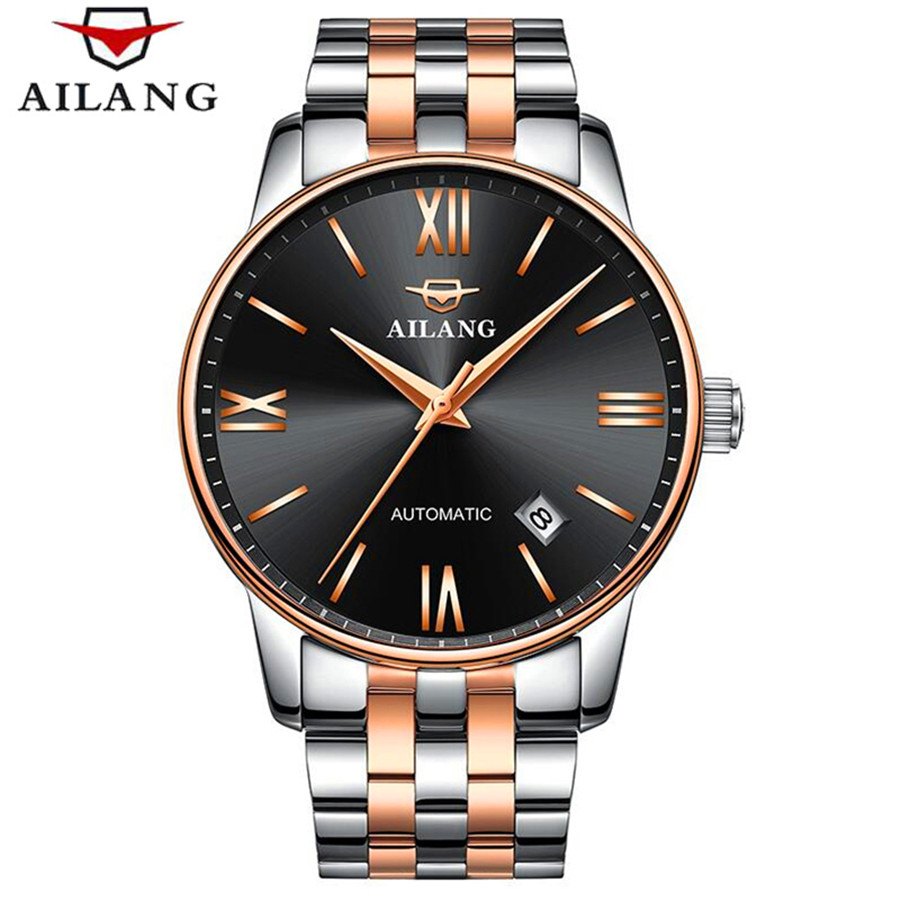 AILANG 2017 Fashion Men Mechanical Watch Top Brand Luxury Stainless Steel Automatic Mechanical Wristwatch Relogio Masculino ailang men mechanical watch luxury brand waterproof automatic wristwatches men s stainless steel mechanical wristwatch a088