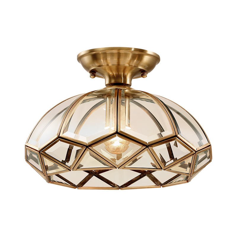 Copper Ceiling Lights Simple Bedroom Lamp Balcony Kitchen Glass Shade Ceiling Lamp Hallway Entrance Gold Ceiling Lamp цена и фото