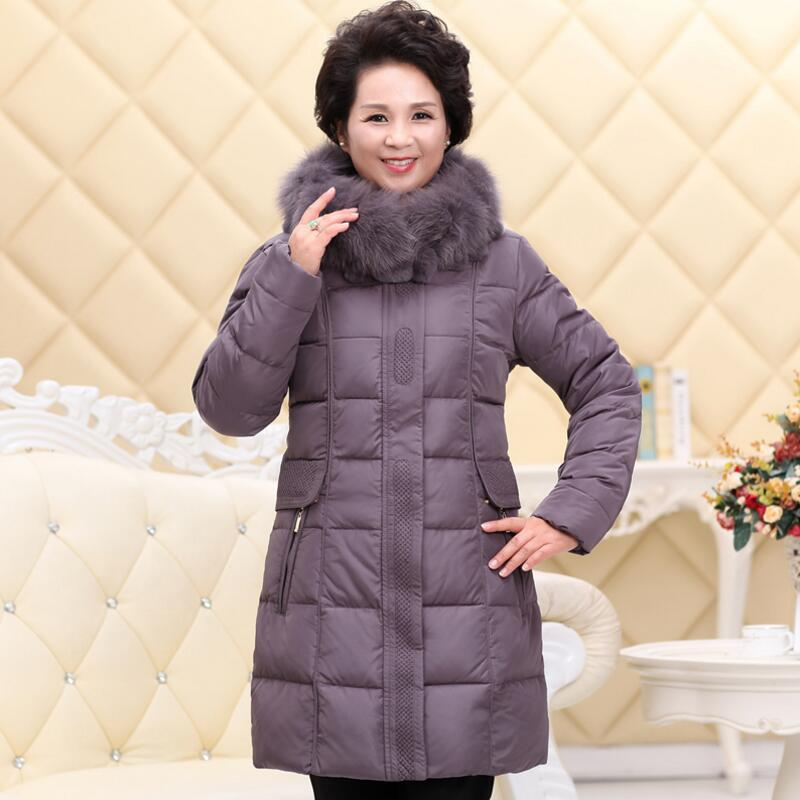 2018 New Plus Size 4XL 5XL Hooded Fur Collar Thick   Down   Jacket Female Outerwear Winter Jacket White Duck   Down     Coat   Women YP1243