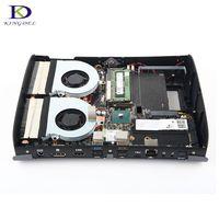 Двойной вентилятор высокой конфигурации для игры суперкомпьютер i7 6700HQ DDR4 NGFF Дискретная Max 32G RAM 4 ядра Mini PC
