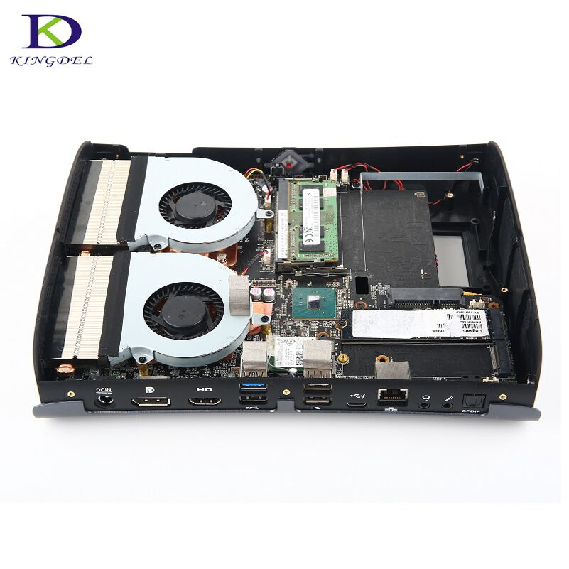 Double Fan High configuration for Game Supercomputer i7 6700HQ DDR4 NGFF Dedicated Card Max 32G RAM Quad Core Mini PC цены