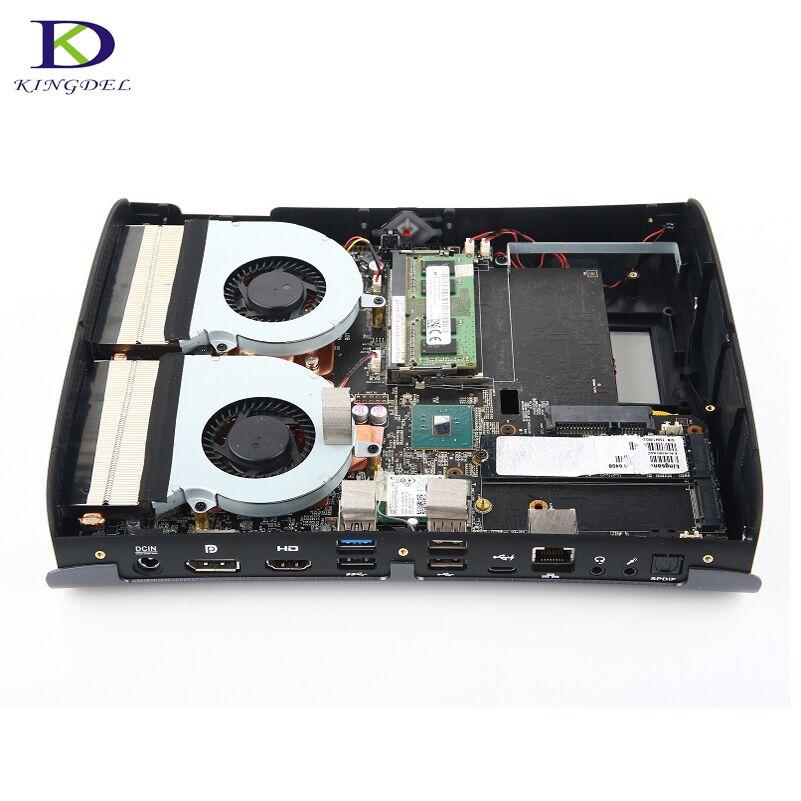 Double Ventilateur Haute configuration pour Jeu Supercalculateur i7 6700HQ DDR4 NGFF Dédié Carte Max 32G RAM Quad Core Mini PC