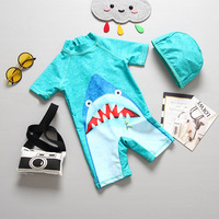 Children Swimming Suit Boys Shark One Piece Swimsuit Swimwear Baby Beach Bathing Suit Swimsuit Sunscreen Quick Drying Surf Wear