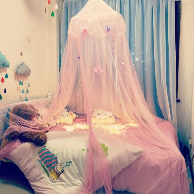 Star Dreamy Children Hanging Lace Mosquito Net Canopy Curtain Erfly Princess Wind Dome