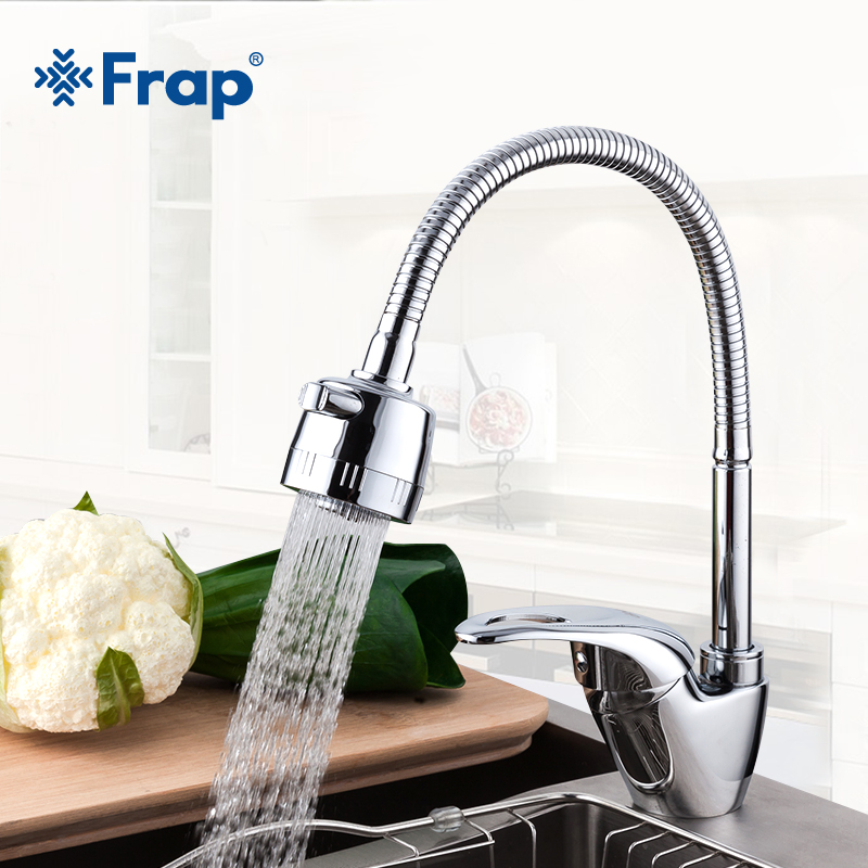 Frap Hot and Cold Water Classic kitchen sink faucet Space Aluminum brushed swivel brass water tap mixer 360 degree rotation frap new hot and cold water classic kitchen faucet space aluminum brushed process swivel basin faucet 360 degree rotation fa4052