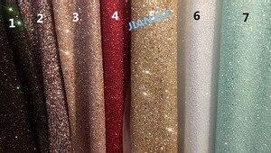Image 1 - Moda JIANXI.C 121691 afrykański brokat koronki tkaniny na imprezę sukienka 5 stoczni/dużo haftowany tiul koronka z klejonym brokatem