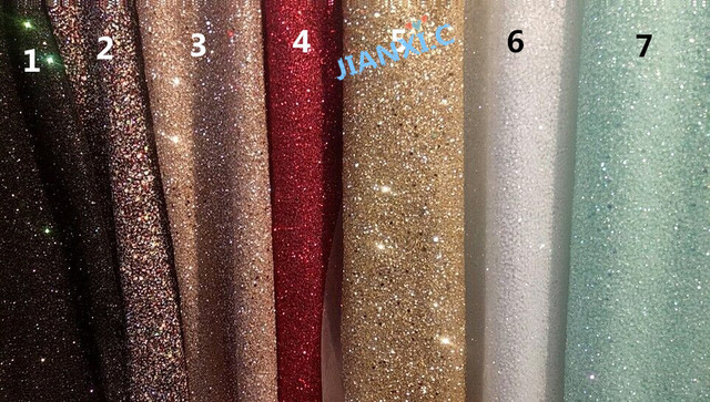 fashion JIANXI.C 121691 african glitter lace fabric for party dress 5yard/lot embroidered tulle lace with glued glitter