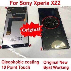 Image 1 - 100% オリジナルの新ガラスセンサー IPS 液晶ディスプレイ 10 タッチパネルスクリーンデジタイザアセンブリ Xperia XZ2 H8216 H8266 h8276
