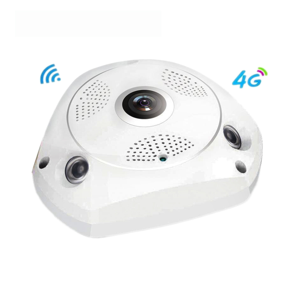 3G/4G Wireless 360 Degree Panoramic Mobile IP Camera with 3MP Alarm VR Camera Surveillance Used as WIFI Hotspots Free APP Alarm - 2