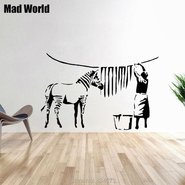 Awesome Cool Mad Weltzebra Streifen Waschkche Wandkunst Aufkleber  Wandtattoo Home Diy Dekoration Room Decor With Waschkche Mbel With Zebra  Mbel