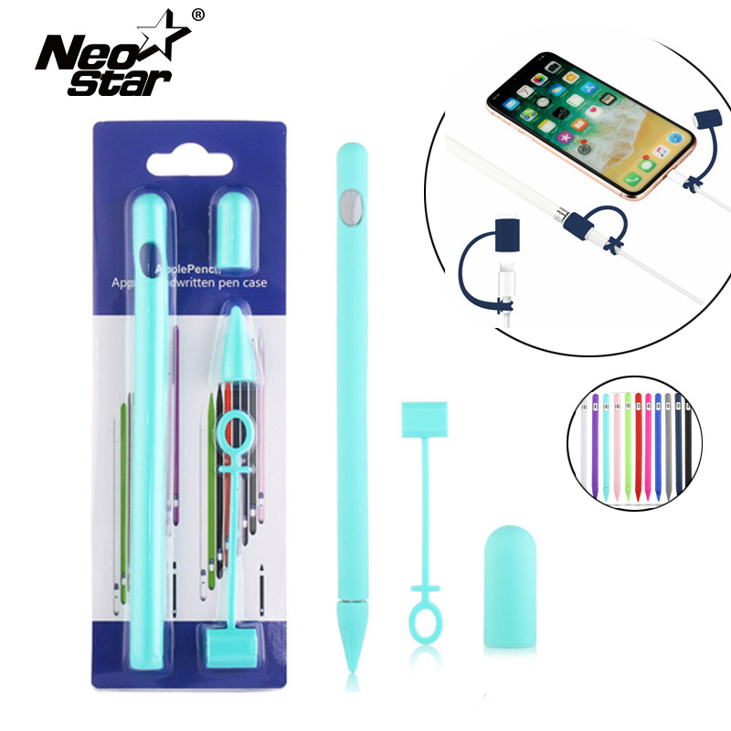 Full Colors Soft Silicone Compatible For Apple Pencil Case Silicon Case For IPad Pro Tablet Touch Pen Pencil Stylus Sleeve Cover
