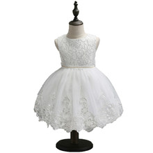 Children Baby Dress White Tutu sleeveless Dresses For Party Wedding Clothing Summer Princess vestido infantil clothes