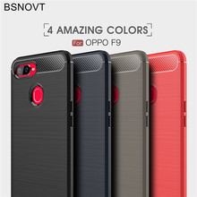 BSNOVT OPPO F9 Case 2018 Cover Shockproof Silicone Brushed Phone Bumper Back For Mobile Fundas 6.3[