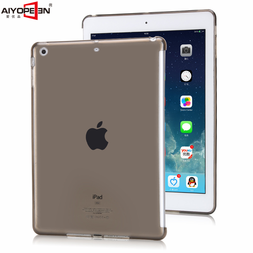 for ipad air 1 case tpu back cover soft protect crystal transparent bottom case with small gift for apple ipad 5 case for ipad air 2 pocaton for tablet apple ipad air 2 case slim crystal clear tpu silicone protective back cover soft shell