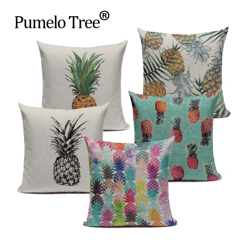 Luxury Linen Cotton Nordic Style pineapple pillow Color Pillow case  45Cmx45Cm Square Home Office Furniture 3D Pillow Case. 3d Office Furniture Reviews   Online Shopping 3d Office Furniture