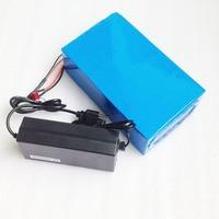 DIY bateria de lítio super poder bicicleta elétrica da bateria 48 v 20ah de iões de lítio da bateria + carregador + BMS