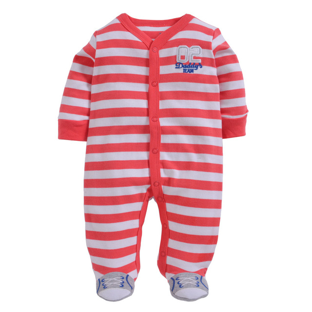 50f345cef Striped Baby Boys Rompers Baby Girl s Pajamas Body suits One piece ...