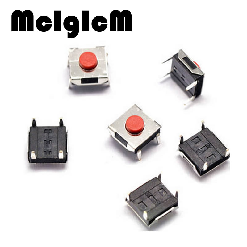 100pcs Tactile Switch Push Button 4pin DIP 6*6*3.1mm Tactile Pushbutton for LCD Screen Monitor Tact Switches Free Shipping
