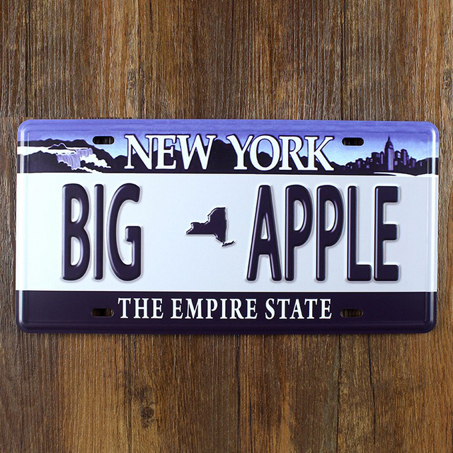 new york big apple vintage metal tin signs bar pub cafe home art