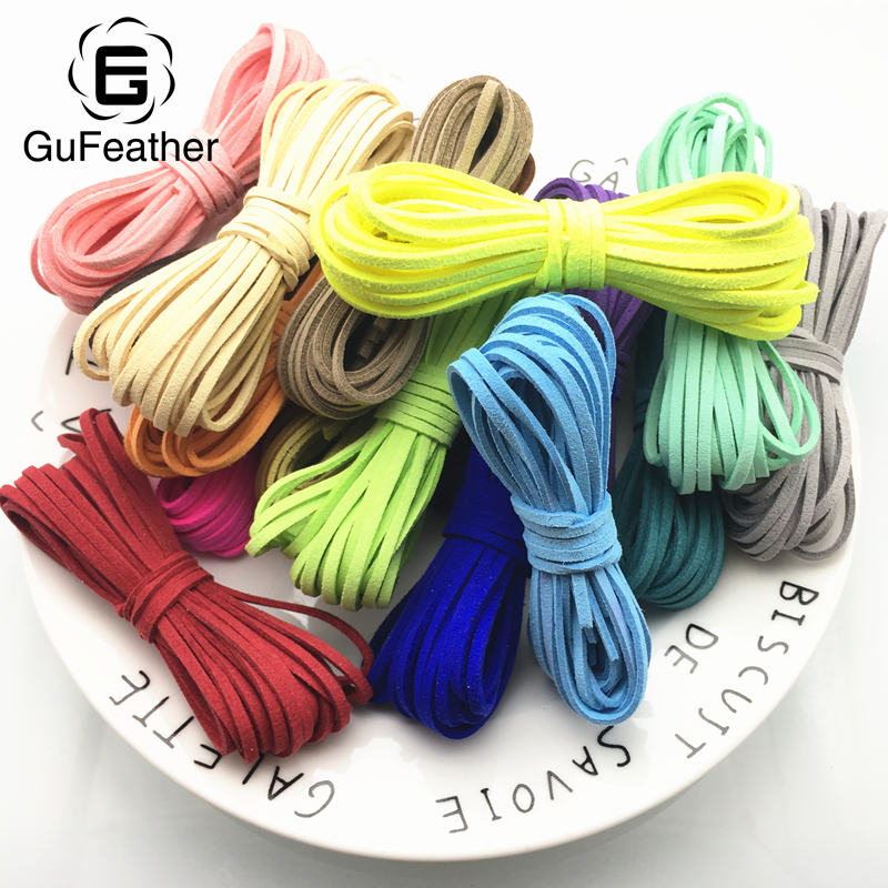 GUFEATHER P70/3MM/Suede/jewelry accessories/jewelry findings/cords/leather cord/diy accessories/jewelry making