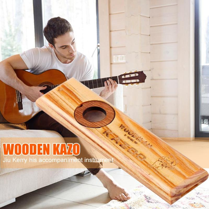 Wooden Kazoo Mouth Flute Portable Music Lovers Woodwind Flute Instrument Flute Harmonica Kids Party Gift For Kids Music Lovers