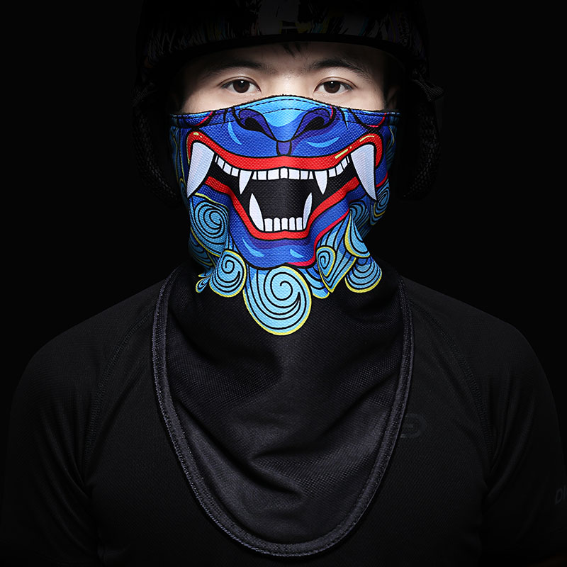 2018 new hot men women cool skull design hiking scarves adults multi function ski motorcycle biker scarf half face mask headband