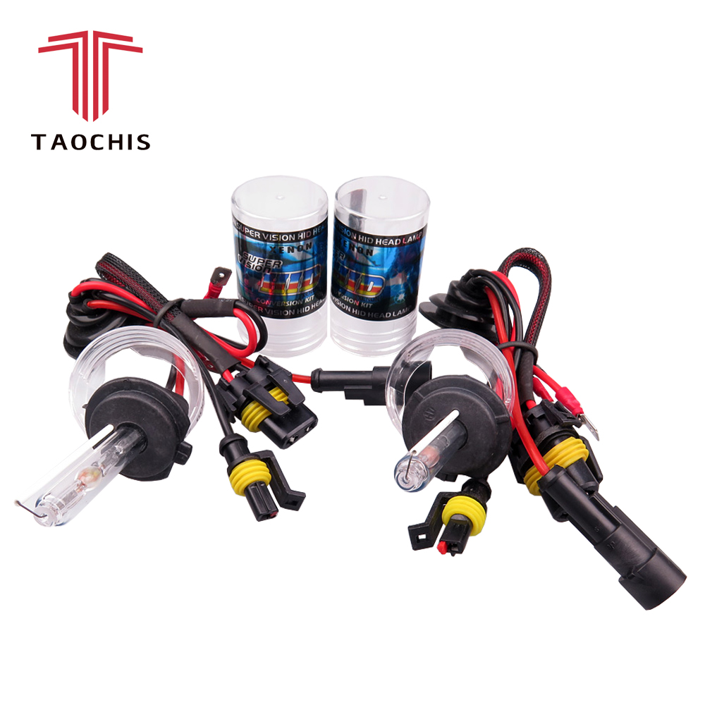 TAOCHIS Car styling 12V AC 35W 55W HID Xenon Car H1 H3 H7 H8 H9 H11 9005 9006 881 Replacement Head Light Bulb 3000K 4300K 6000K blackeagleeyes 9005 35w 6000k 3600 lumen white light hid headlamps dc 12v pair