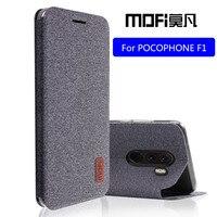 POCOPHONE F1 para Xiaomi POCO F1 flip cubierta proteger de silicona a prueba de golpes caso capas MOFi original POCOPHONE F1 caso
