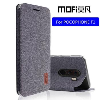POCOPHONE F1 case For Xiaomi POCO F1 flip cover full protect silicone shockproof case capas MOFi original POCOPHONE F1 case