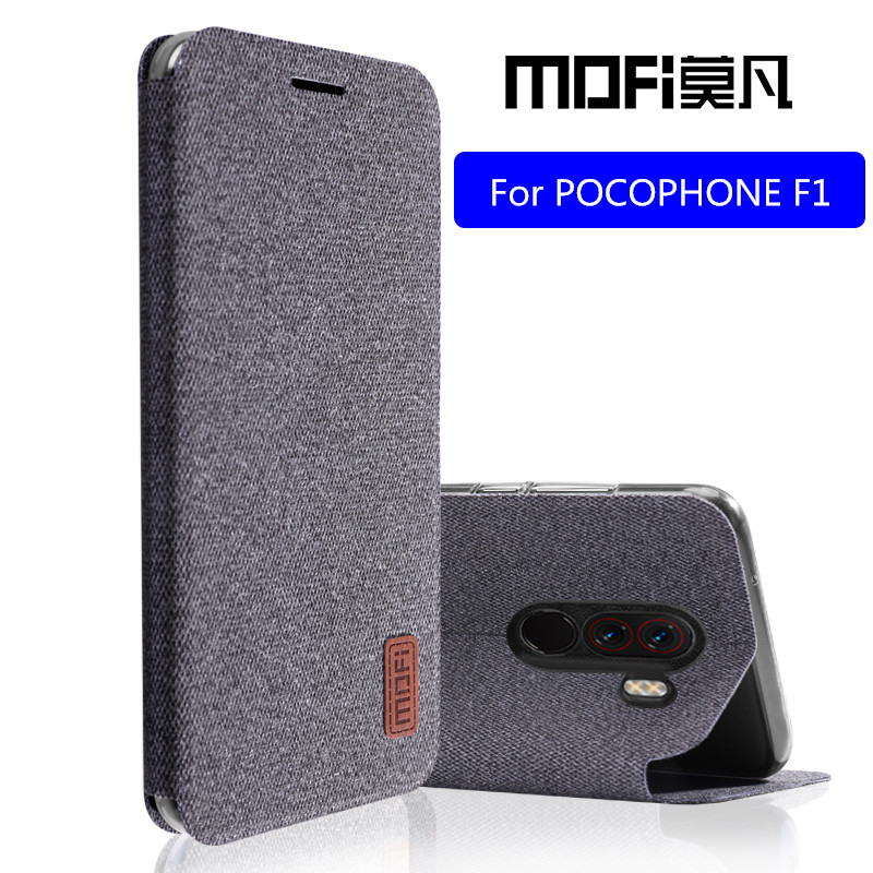 Para Xiaomi teléfono móvil F1 caso POCO F1 flip cubierta proteger de silicona a prueba de golpes caso capas MOFi original teléfono móvil F1 caso