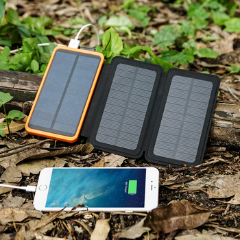 Phone Charger 10000mAh Solar Phone Charger Power Bank Dual USB for iPhone 4s 5 5s SE 6 6s 7 7plus iPad Samsung s7 s8 HTC LG Sony 5
