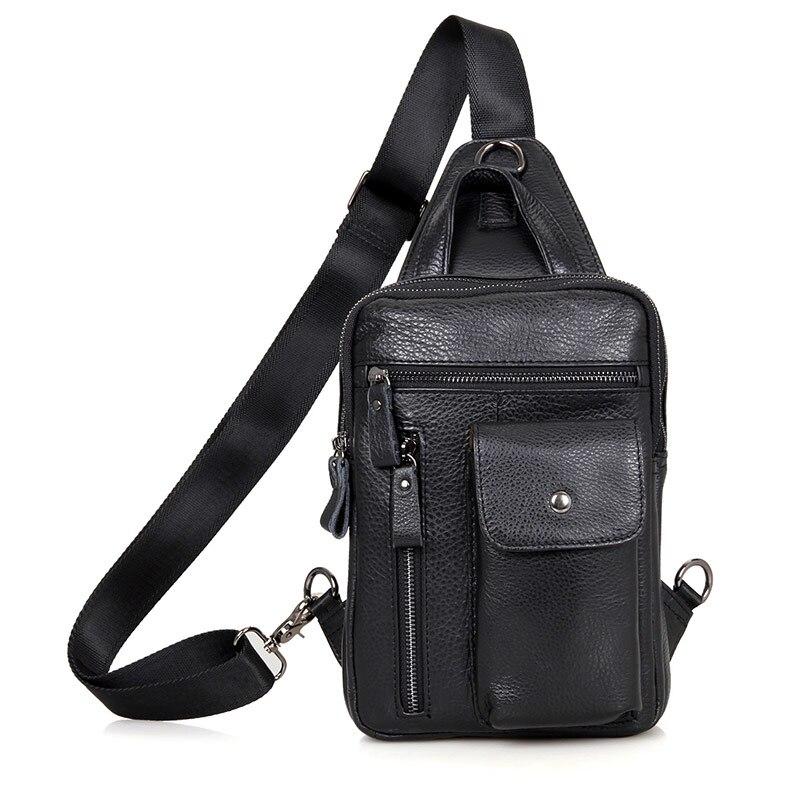 J.M.D Vintage High Qualty Natural Leather Funny Bag Chest Bag for Men 4006A