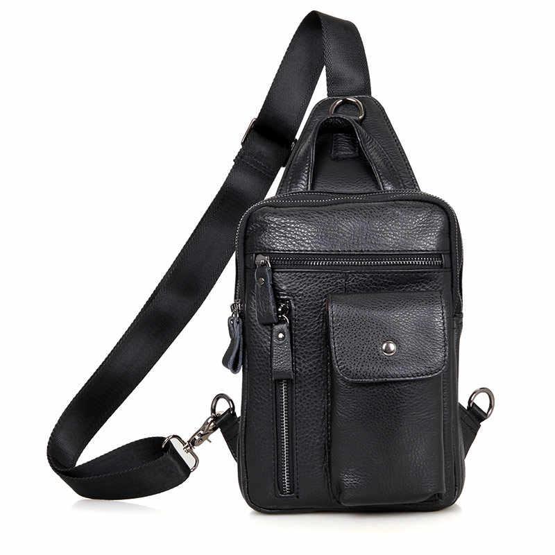 69bf59dd9a3b J.M.D J. m.d Винтаж Высокое качество Натуральная кожа забавная сумка Грудь сумка  для мужчин 4006A