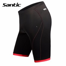 Santic 2017 Padded Gel Cycling Shorts Women Black Tight Bicycle MTB Clothing Quick Dry Summer Reflective Road Bike Sportswear