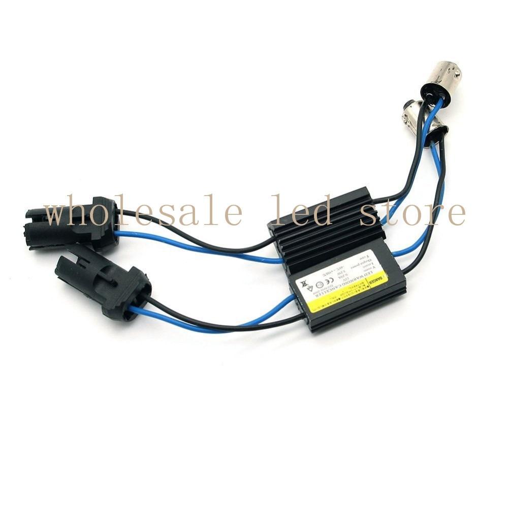 1Pcs Car BA9S Turn T10 LED Lamp Decoder Wiring Adapter LED Decoder Anti Flicker Warning Canceller Hard Socket Black parking