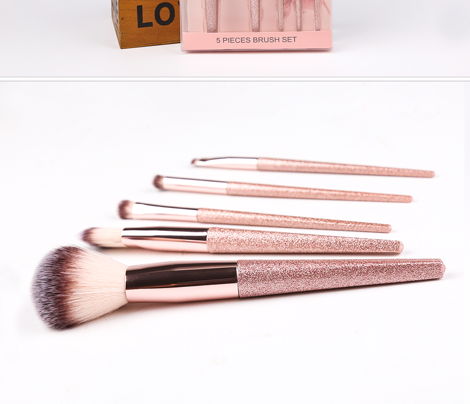 Zoreya Brand 5pcs Face Makeup Brush Eye Make Up Tools