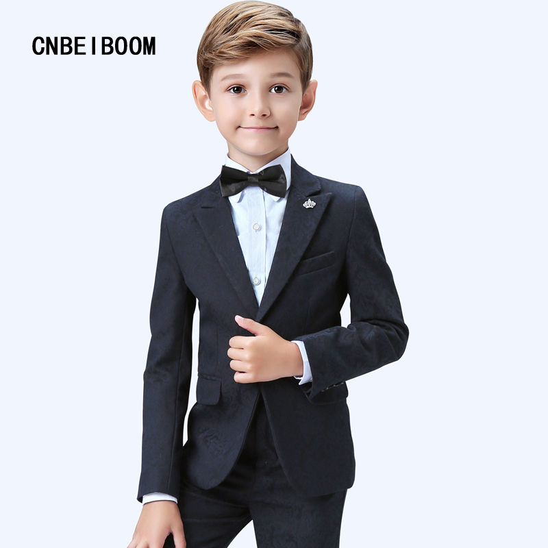 2018 New Printing Boys blazers children wedding clothing Suits kids3-16 T Formal Suit Winter/autumn jackets Clothes sets 2018 new children clothing set england kids clothes gentleman boys party wedding suits baby boy formal plaid long sleeved sets