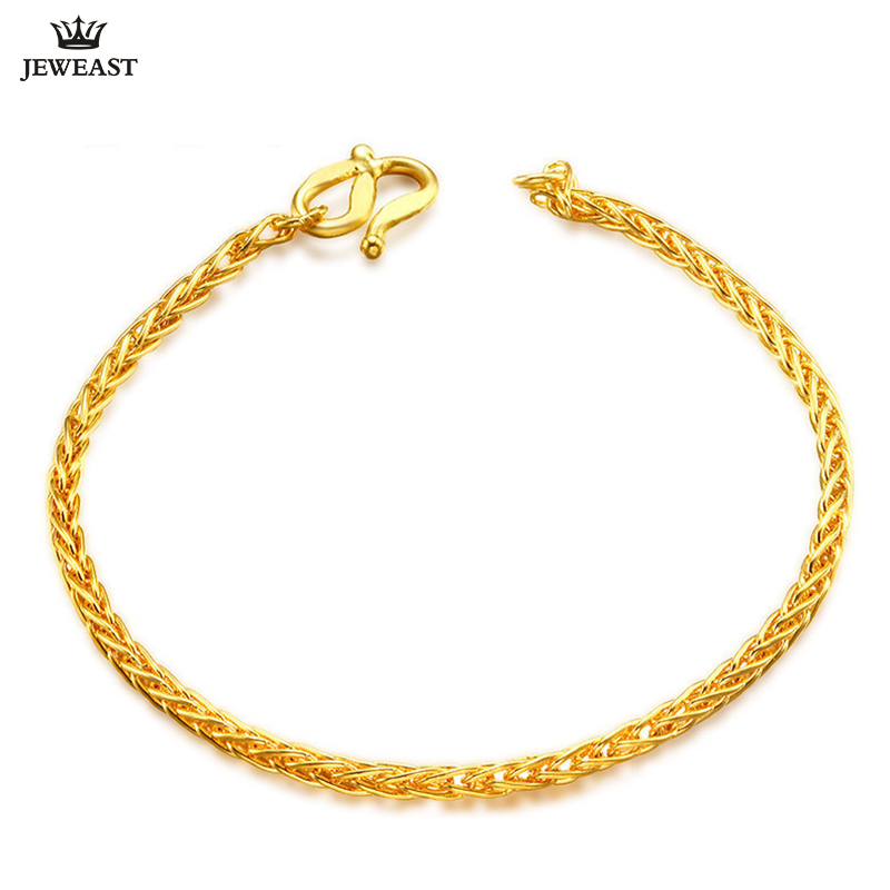 24K Pure Gold Bracelet Real 999 Solid Gold Bangle Shiny Charming Beautiful Trendy Classic Party Fine Jewelry Hot Sell New 2018 24k pure gold bracelet real 999 solid gold bangle elasticity no deformation trendy classic party fine jewelry hot sell new 2018