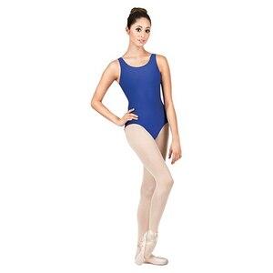Image 4 - AOYLISEY body de Ballet réservoir noir pour femmes, léopard de danse, Scoop, cou, gymnastique, slim, Costumes de scène