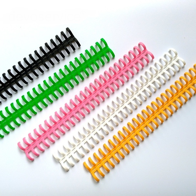 12mm 25 trous barre de reliure en plastique à feuilles mobiles anneaux ressort hélicoïdal spirale réservation bande poinçon anneau pour ordinateur portable fournitures de bureau scolaire