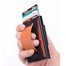 купить New Mini RFID Blocking Wallet Business Aluminum ID Credit Card Holders For Men Women Cardholder Porte Carte Male Wallets дешево