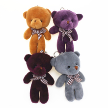 12cm Cute Bear Stuffed Plush Teddy Bear Keychain Stuffed Animals Teddy Bear Small Pendant Cute Plush
