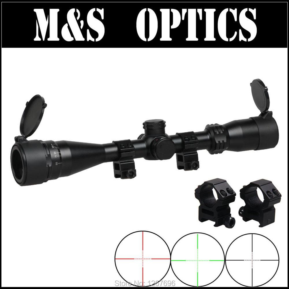 4-16X40 AOE Red and Green Iluminated Rifle Scope Airsoft Air Rifles Sight Optical Riflescope For Hunter Outdoor Sports t eagle 6 24x50 sffle riflescope side foucs rifle scope with spirit level tactical long range rifles airsoft air gun