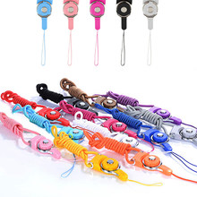 Universal neck hand Lanyard cell phone strap keychain Charm Cords Multi-function Rotatable Hang Rope for gift nylon wire Lanyard(China)