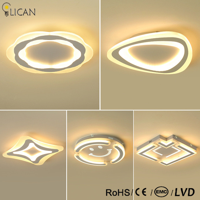 Ultrathin Surface Mounted Triangle Modern led ceiling lights lamp for living room bedroom lustres de sala home Dec Ceiling Lamp lican rectangle white black modern led ceiling lights for living room bedroom home diy minimalism lustres de sala ceiling lamp